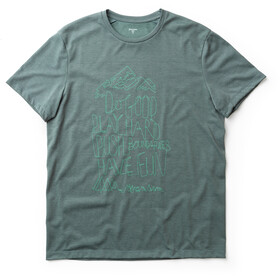 Houdini Big Up Message Tee Herren storm green